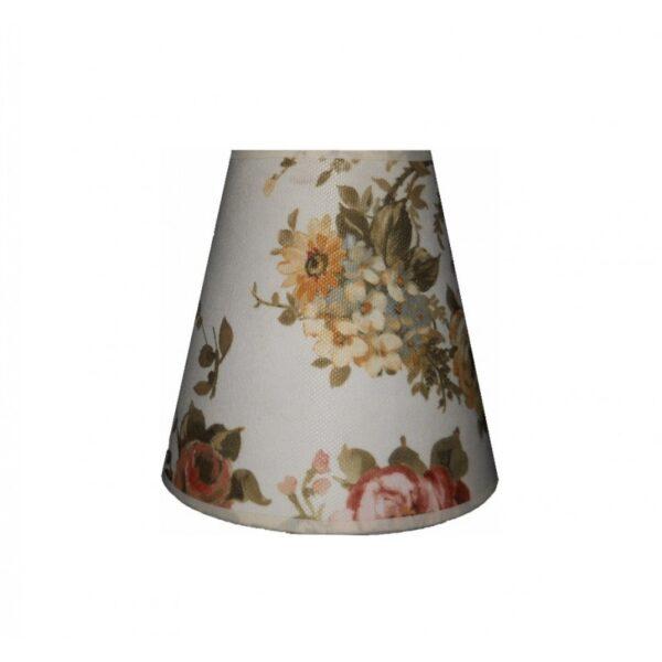 Abajur din material textil CON3 trandafiri englezesti