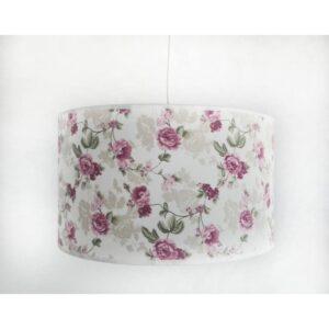Abajur din material textil cu imprimeu floral TXT TR ROZ CIL1