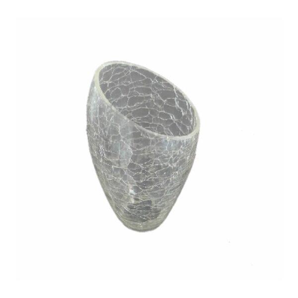 Abajur din sticla cu aspect de gheata transparent
