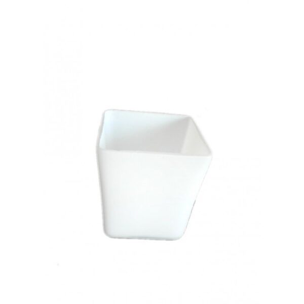 Abajur din sticla sub forma dreptunghiulara alb mat