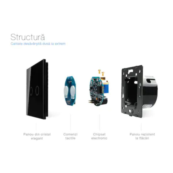 Întrerupător simplu, cap scară/ cruce, wireless