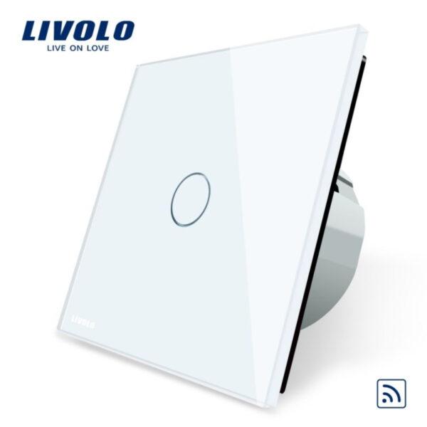 Intrerupator simplu wireless cu touch Livolo din sticla