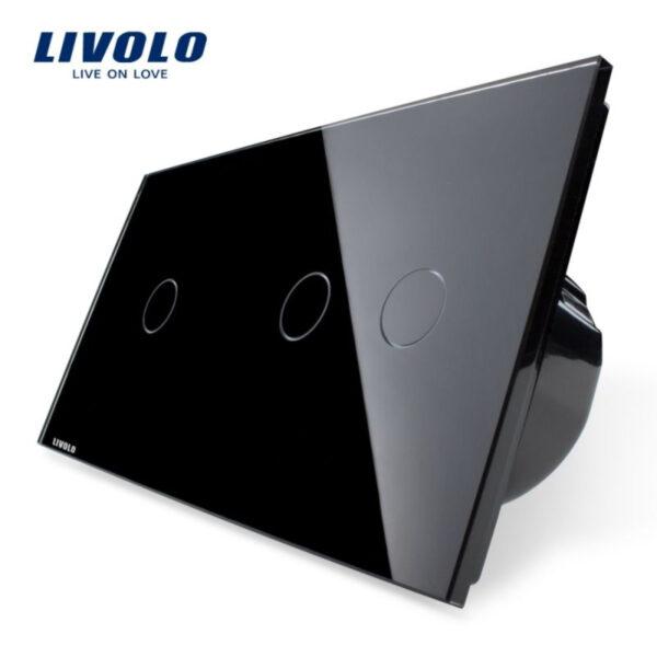 Intrerupator simplu + dublu cu touch Livolo din sticla