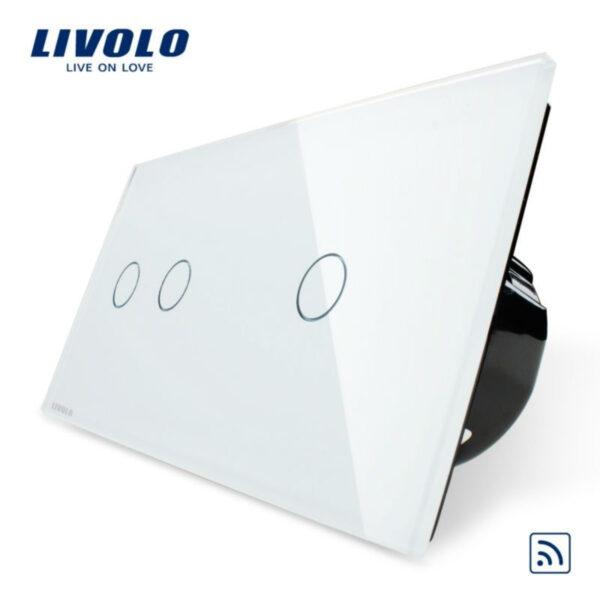 Întrerupător dublu+simplu wireless