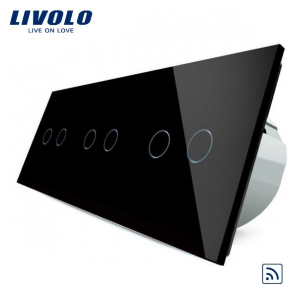 Intrerupator dublu+dublu+dublu wireless VL-C706R-11/12/13/15