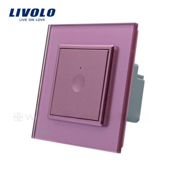 Intrerupator tactil simplu, cap scara / cruce, rama sticla