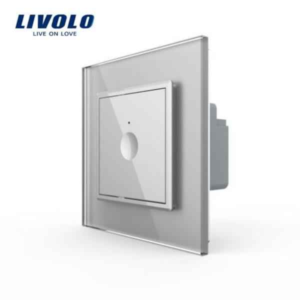 Intrerupator tactil simplu, wireless RF, rama sticla