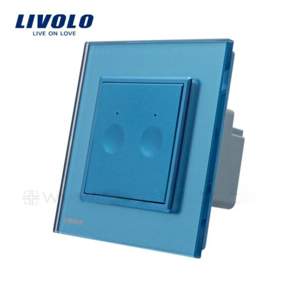 Intrerupator tactil dublu, wireless RF, rama sticla