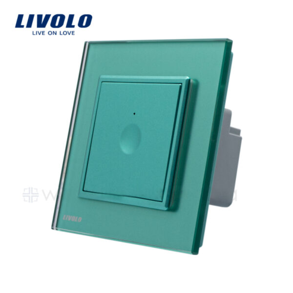 Intrerupator tactil simplu, cap scara / cruce, WiFi ZigBee, rama sticla